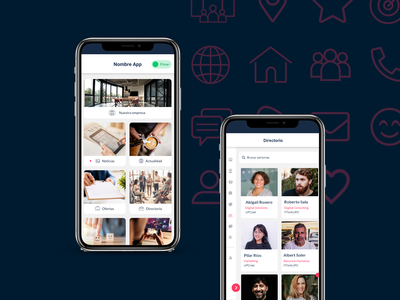 Redesign of Corporative App for internal communication app ui app design corporative ui design ui ux