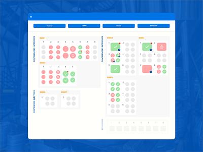UI Design for platform to manage time, spaces and containers website design ux web design management tool app design ui ui design