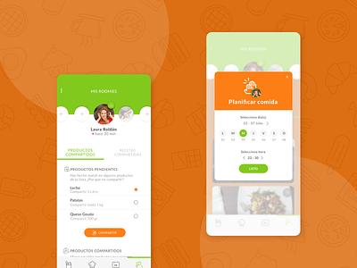 Sweep Us: Master project match food waste sketch marvel design app design ux ui ui design