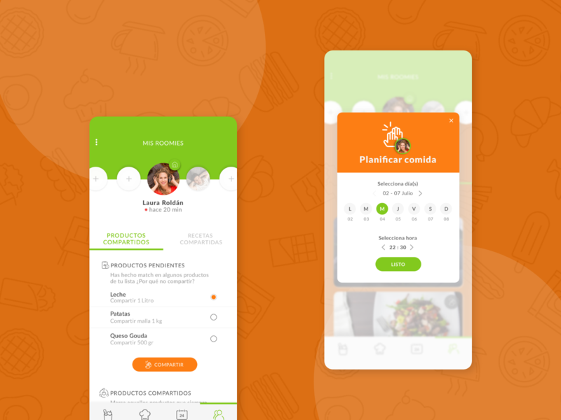 Sweep Us: Master project match food waste sketch marvel design app design ux ui ui design