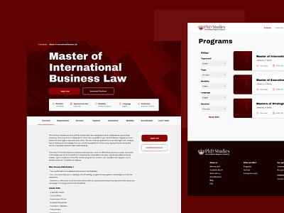 PhD Studies : freelance project corporative filter studies education adobe xd ux research web design ui ux ui design