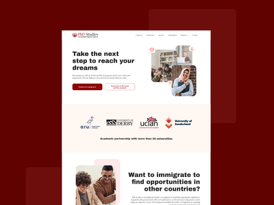 PhD Studies : freelance project corporative filter education adobe xd ux research ux ui web design ui design