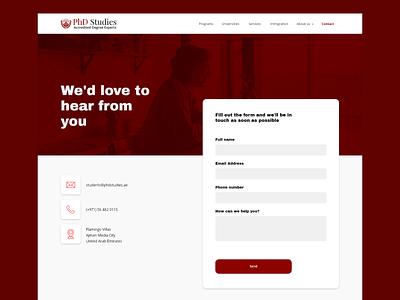 PhD Studies: redesign web ux research platform courses education ui ux ui design
