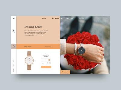 Watch Store ( Daniel Wellington ) watch wellington daniel website web dribble design ui
