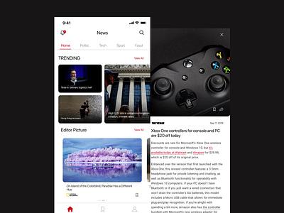 News App Concept web uplabs challenge iphone iphone x app application concept app concept shot news app ui dribble design news