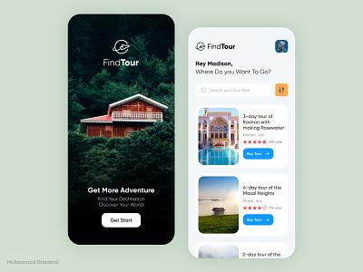Tourism Tour App Concept adventure iran exprience tourism tour art application app concept creativity creative app concept ui dribble design