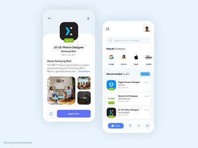 Job Search Finder iphone application app concept creativity creative dribble design concept ui job application app finder search job