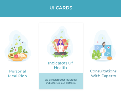 Ui cards for Health website