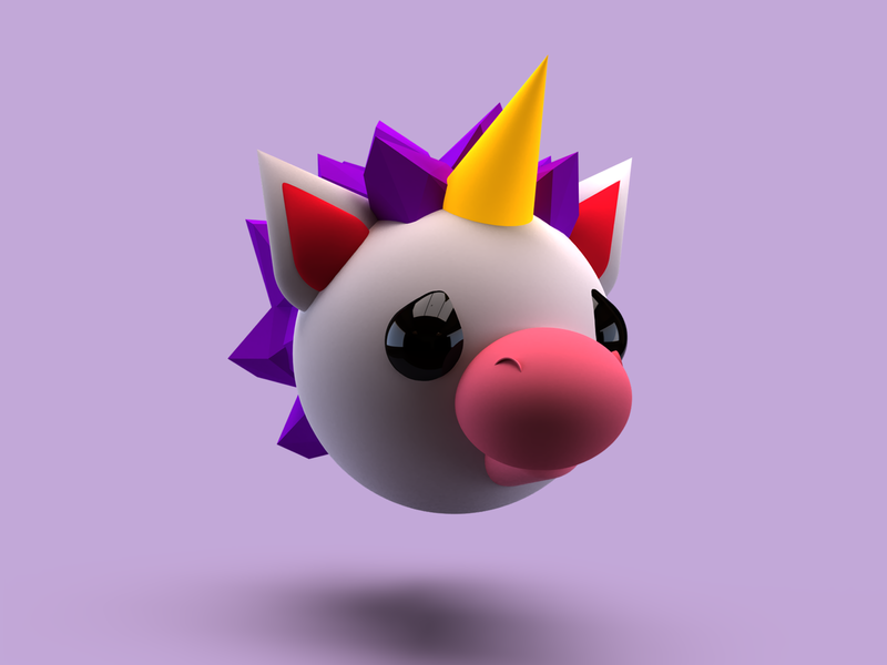 Day 1 - Unicorn character design 3dcharacter illustration 3d dimension adobe