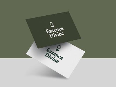 Essense Divine Logo west coast green minimalist minimal logo branding simple caitlin aboud illustration design
