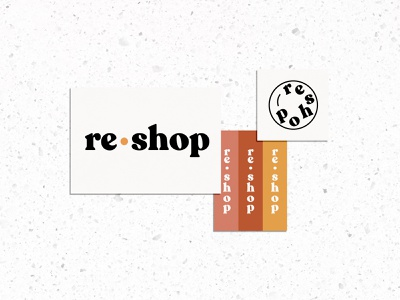 ReShop Logo typography modern abstract branding simple caitlin aboud illustration design