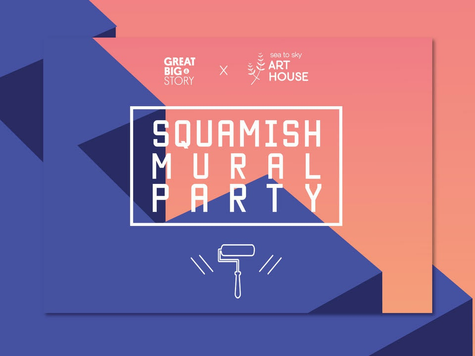 Squamish Mural Party documentary collaboration logo event branding design poster event