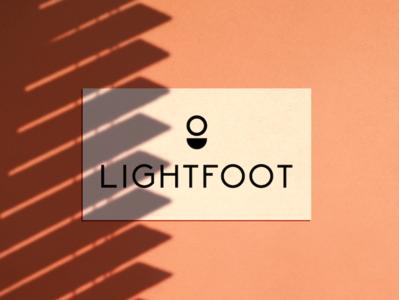 Lightfoot Logo tall font grid simple modern mockup abstract logo design