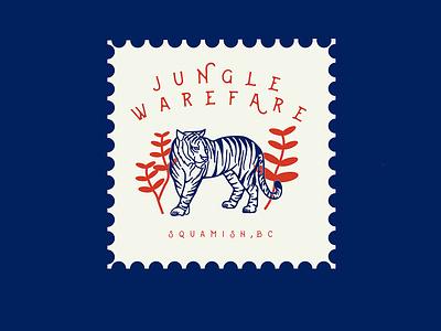 Jungle Warefare Multi-Pitch typography beige logo modern abstract branding caitlin aboud simple illustration design
