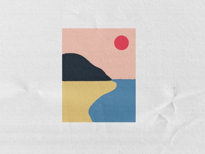 Sunsets beige typography logo modern abstract branding caitlin aboud simple illustration design