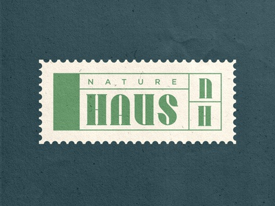 Nature Haus pink typography logo modern abstract branding caitlin aboud simple illustration design