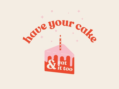 have your cake & eat it too grid typography logo modern abstract branding simple caitlin aboud illustration design