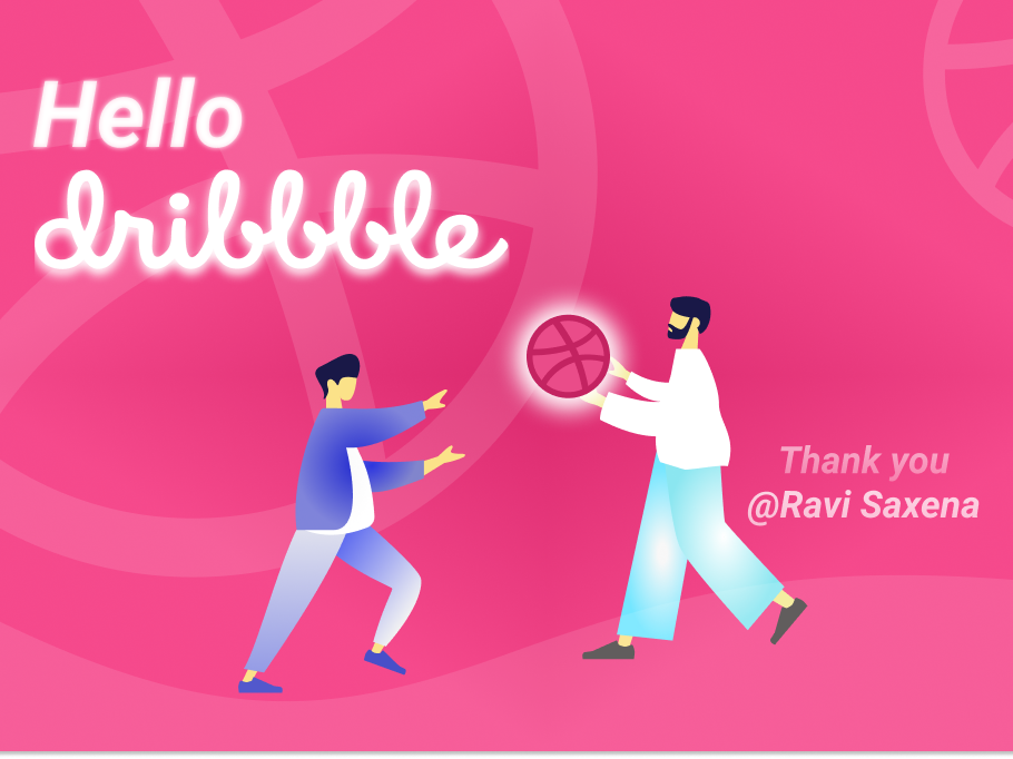 Hello Dribbble web ui design colors color illustration hellodribbble hello dribble