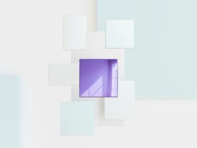 Neumorphism inspired render