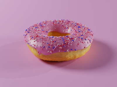 Donut render made in Blender 2.81