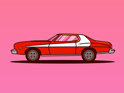 Ford Gran Torino youssef jaafar illustrator illustration colorful car vector torino gran ford hutch starsky