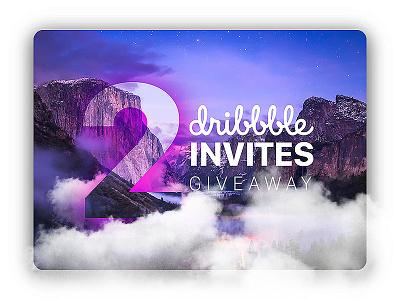 2 Dribbble Invites gift invitation giveaway invites dribbble