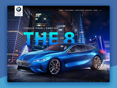 BMW The 8 serie8 car webdesign illustration bmw