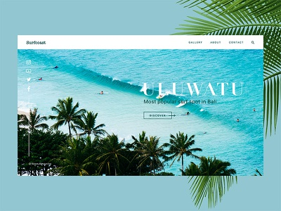Surfcoast Surf Blog ux ui transition home creative blog animation swim beach summer surf
