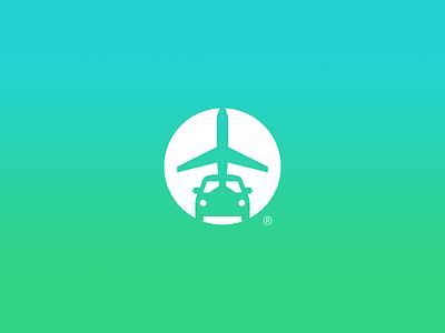 Airport Shuttle, Logo car airplane design identity branding logo shuttle airport