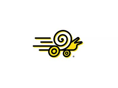 Snail, Logo fast design logo creator speed snail