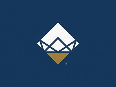 Crown Quartz, Logo company marble granite illustration branding logo quartz stone crown