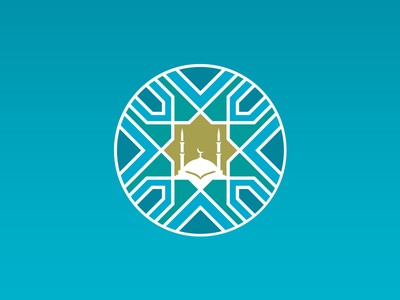 Mosque Planning and Design Project, Logo identity branding islamic life city affairs religious mosque project design logo