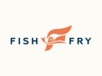 Fish Fry Shipping | Logo sea wave ship shipping illustration identity branding food design logo fish