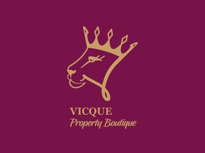 Vicque Property Boutique logo branding ui graphic design