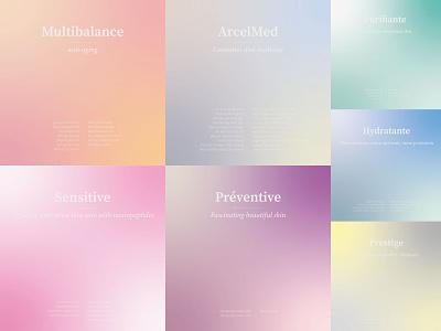 Social Media alexandra miracle ux ui beaut cosmet socialmedia sm design branding gradient
