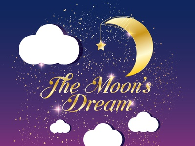 the Moon's Dream dream moon clouds sky vector branding alexandra miracle illustration design home candle