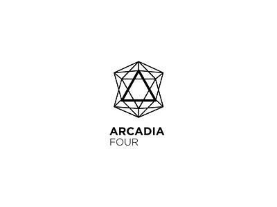 ARCADIA Four t logo graphic design geomet vector illustration design alexandra miracle branding