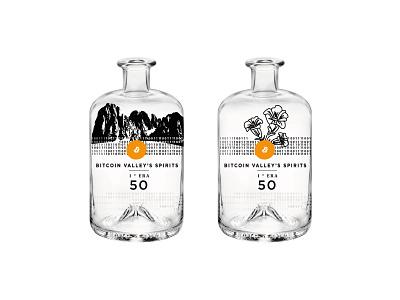 Labels for the bottles vector illustration branding drinks alcohol code binary coin
