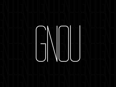 "Logotype ""GNOU"" logo ui ux graphic design illustration design alexandra miracle branding"