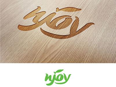Njoy. Logotype leaf green logotype logo vector illustration design alexandra miracle branding snacks chips