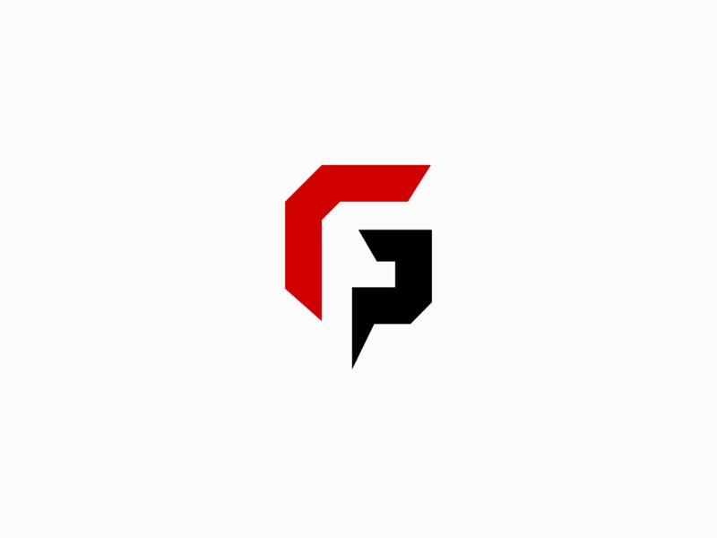 FG Logo minimalist flat colorfull simple branding minimalist logo fg logo