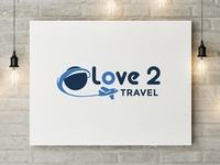 "Logo Design ""Love 2 Travel"""
