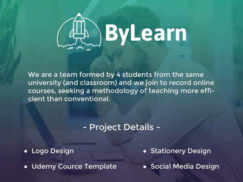 "Branding -  ""By Learn"" technology icons merchandise stuff stationery design social media design student project brazil template design courses udemy online business minimal typography icon logo design branding graphic  design"