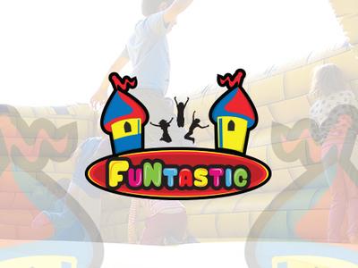 "Logo for ""Funtastic"""" website app ux ui art social media design illustration gaming logo minimal typography icon logo design branding graphic  design"