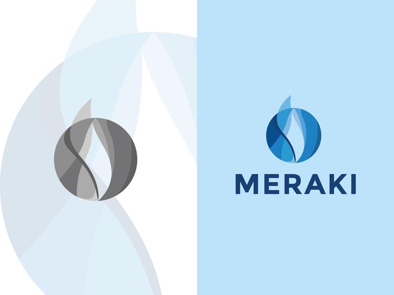"Logo Design for ""Meraki"" social media design website web mascot logo ux ui design branding illustration art vector gaming logo logo minimal icon typography logo design graphic  design"