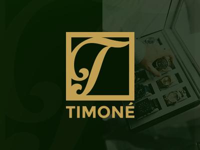 "Logo Design for ""TIMONE"" brand and identity wristwatch company brand logo company brochure watch mascot logo vector flat branding gaming logo logo design minimal illustration art typography icon logo design graphic  design"