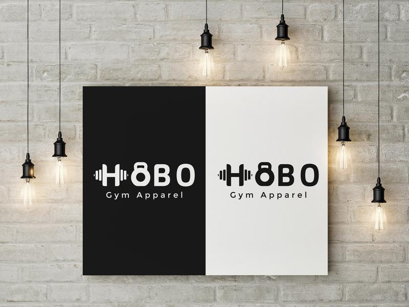 Logo Design for  (HOBO Gym Apparel) gym logo gymnastic gymlogo tshirt art mascot logo flat ux ui vector social media design gaming logo logo minimal illustration art icon typography branding logo design graphic  design
