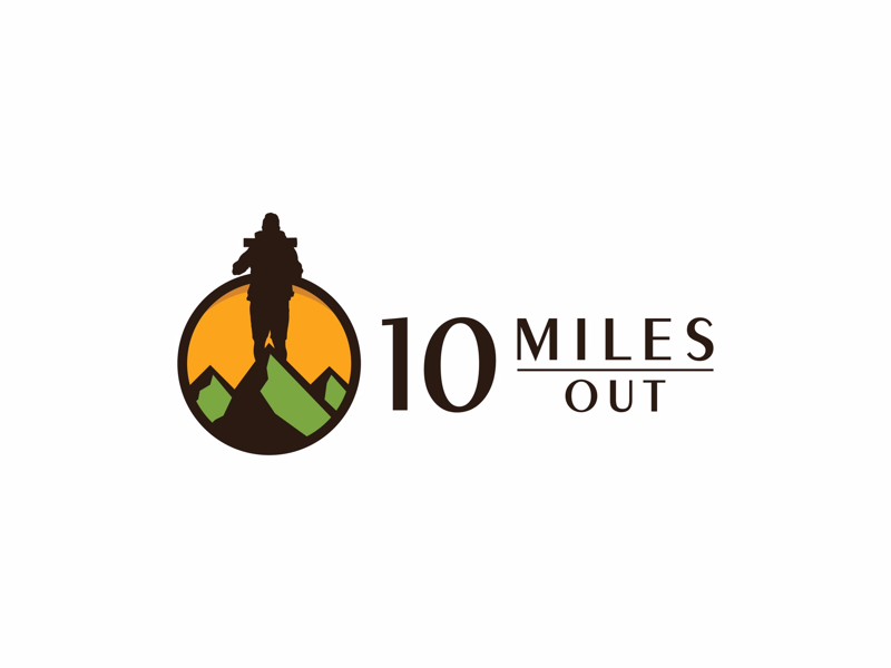 "Logo Design ""10 MILES OUT"" by Hivex Studio on Dribbble"