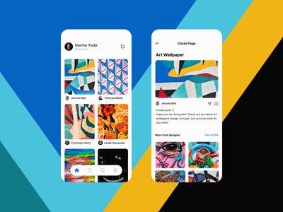 Tonaka - collect idea and inspiration ui  ux design fresh yellow blue inspiration idea colorful clean ui mobile design ui design app design clean