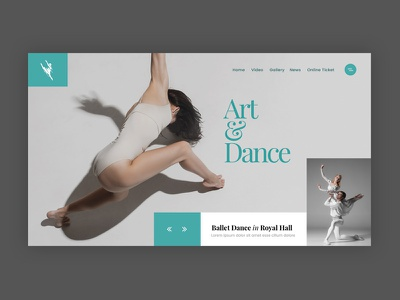 Dance & Art art ballet dance light minimal modern clean creative web design ux ui